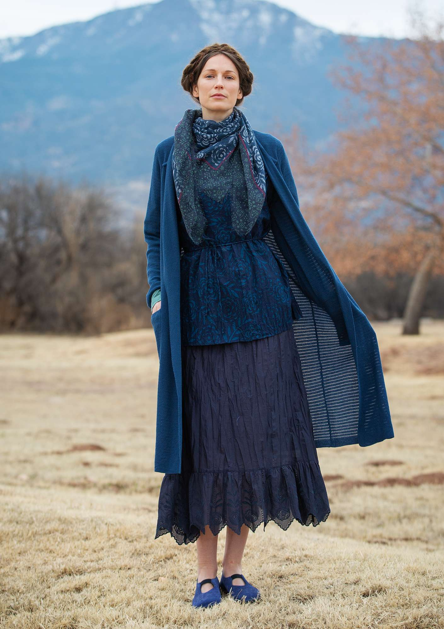 Petticoat in organic cotton dark indigo