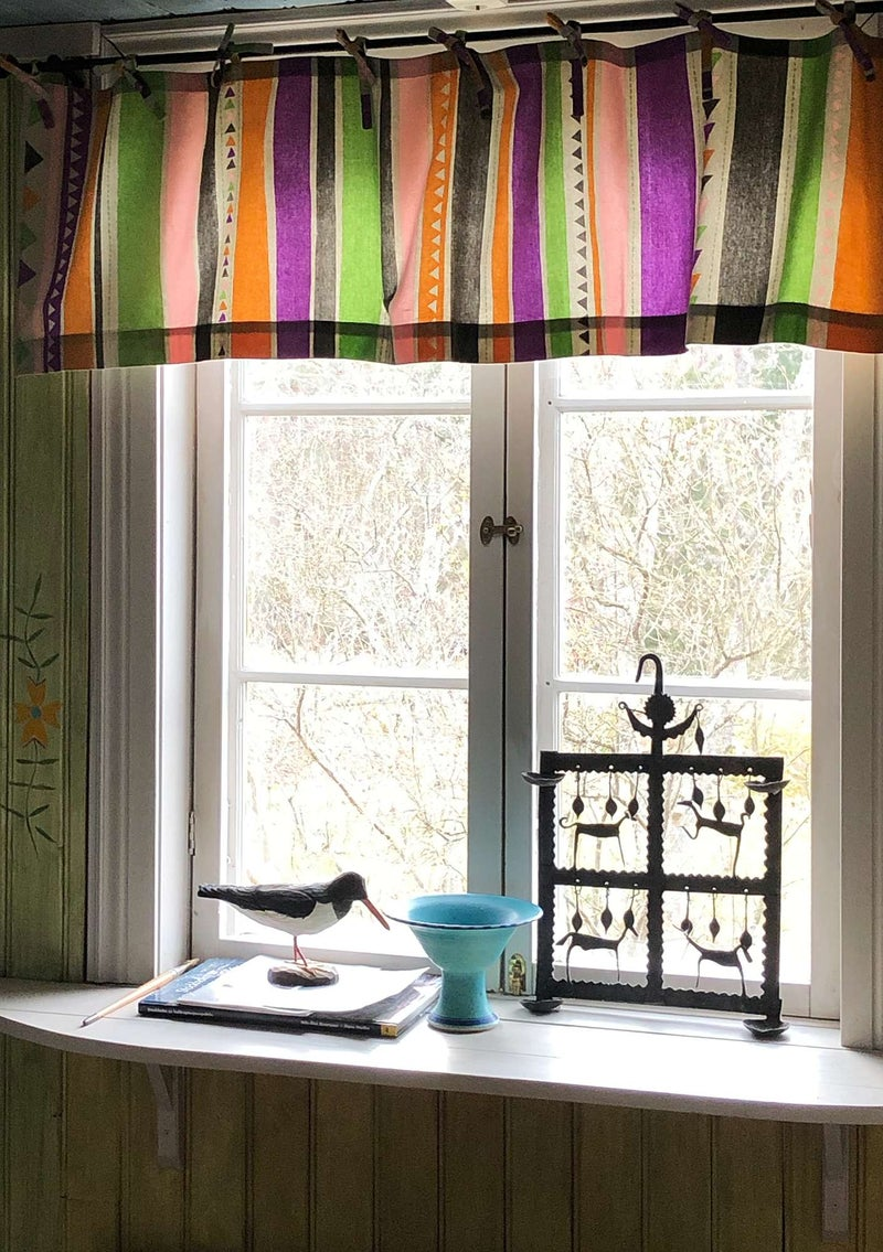 """Santa Fe"" organic cotton curtain valance natural"