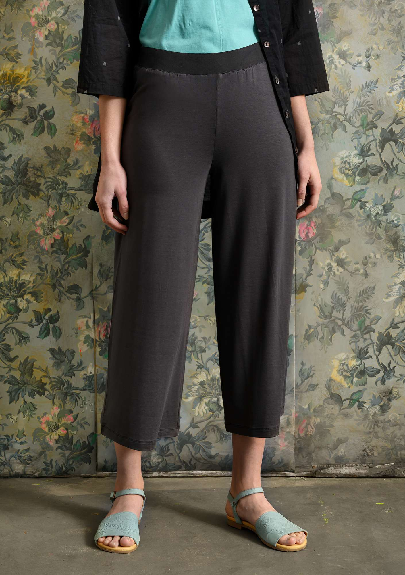 Solid-colored Pants ash grey