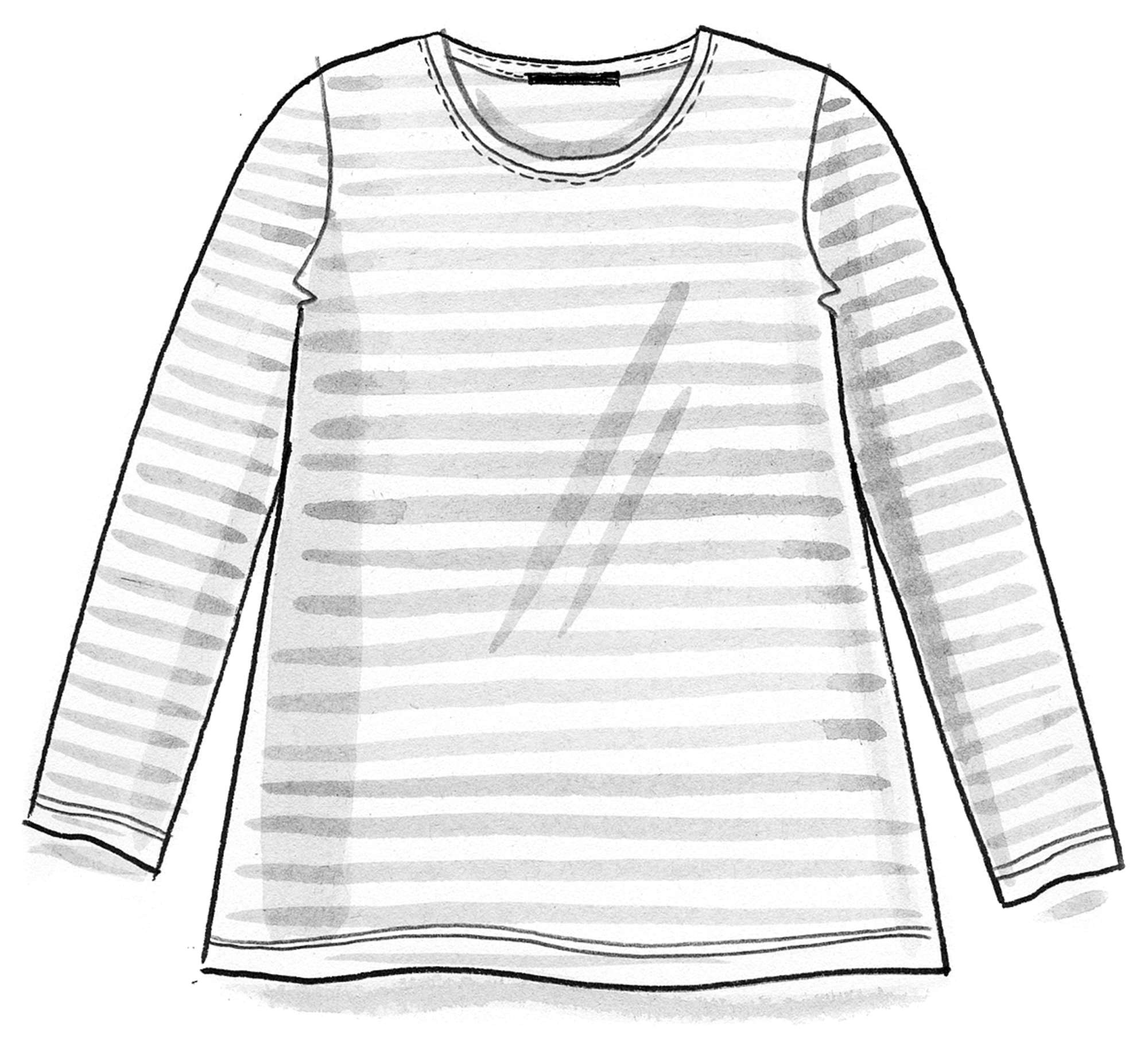 Organic cotton essential striped sweater