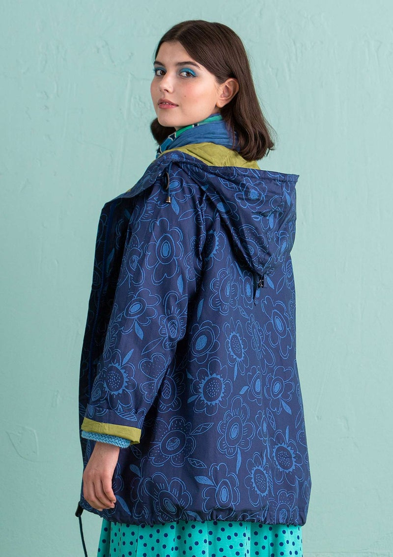 """Cornelia"" parka in organic/recycled cotton midnight blue"