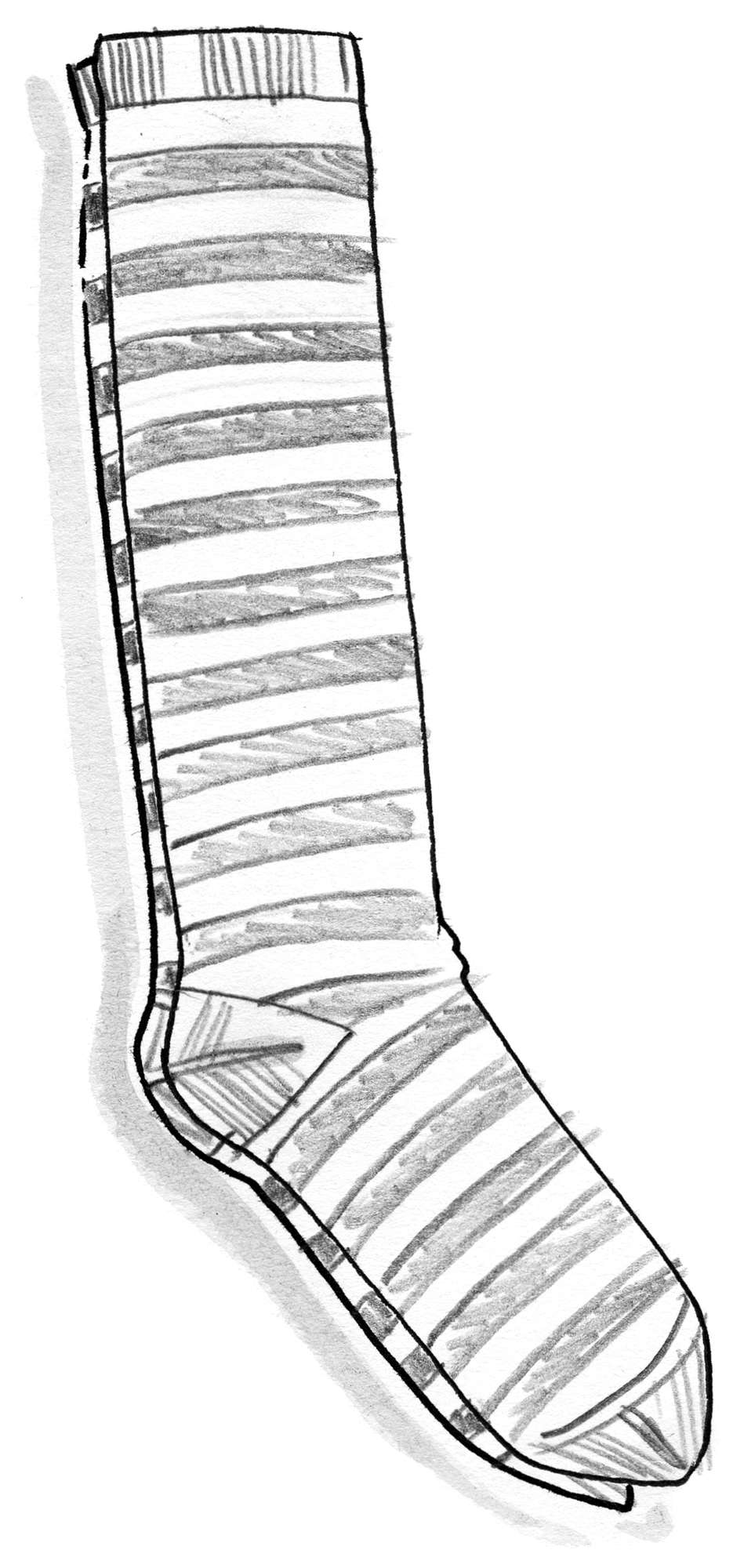 Striped knee-highs in organic cotton