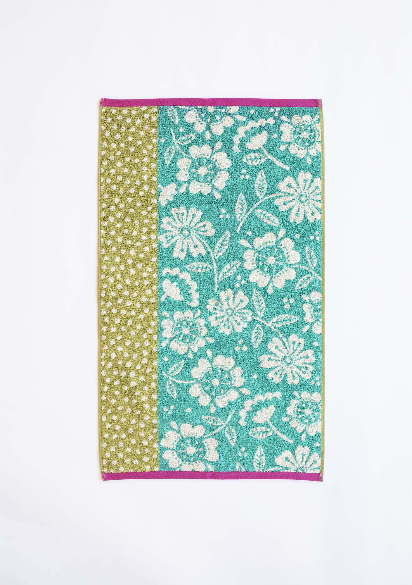 """Okinawa"" eco-cotton hand towel kiwi"