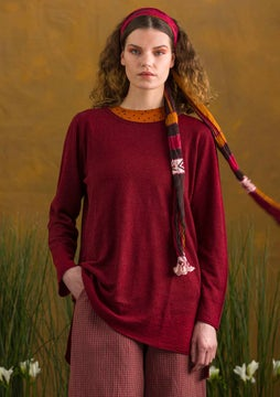 Linen knit fabric tunic agate red