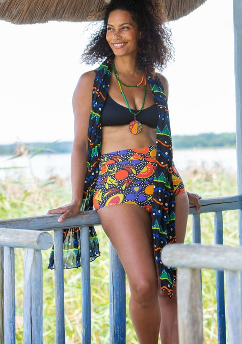 Bikinitrusse Botswana black/patterned