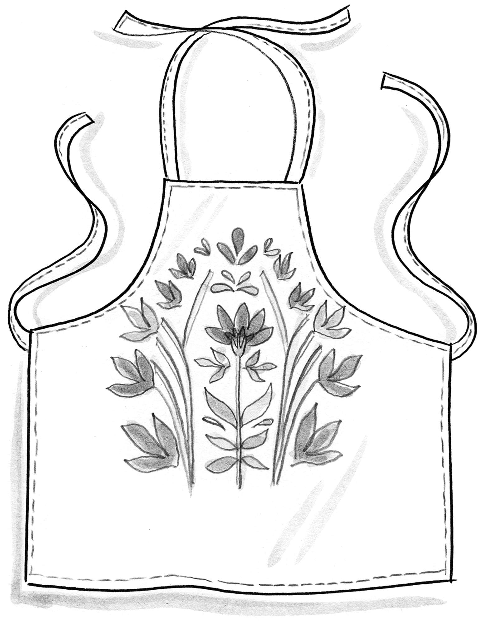 """Amaryllis"" eco-cotton apron"