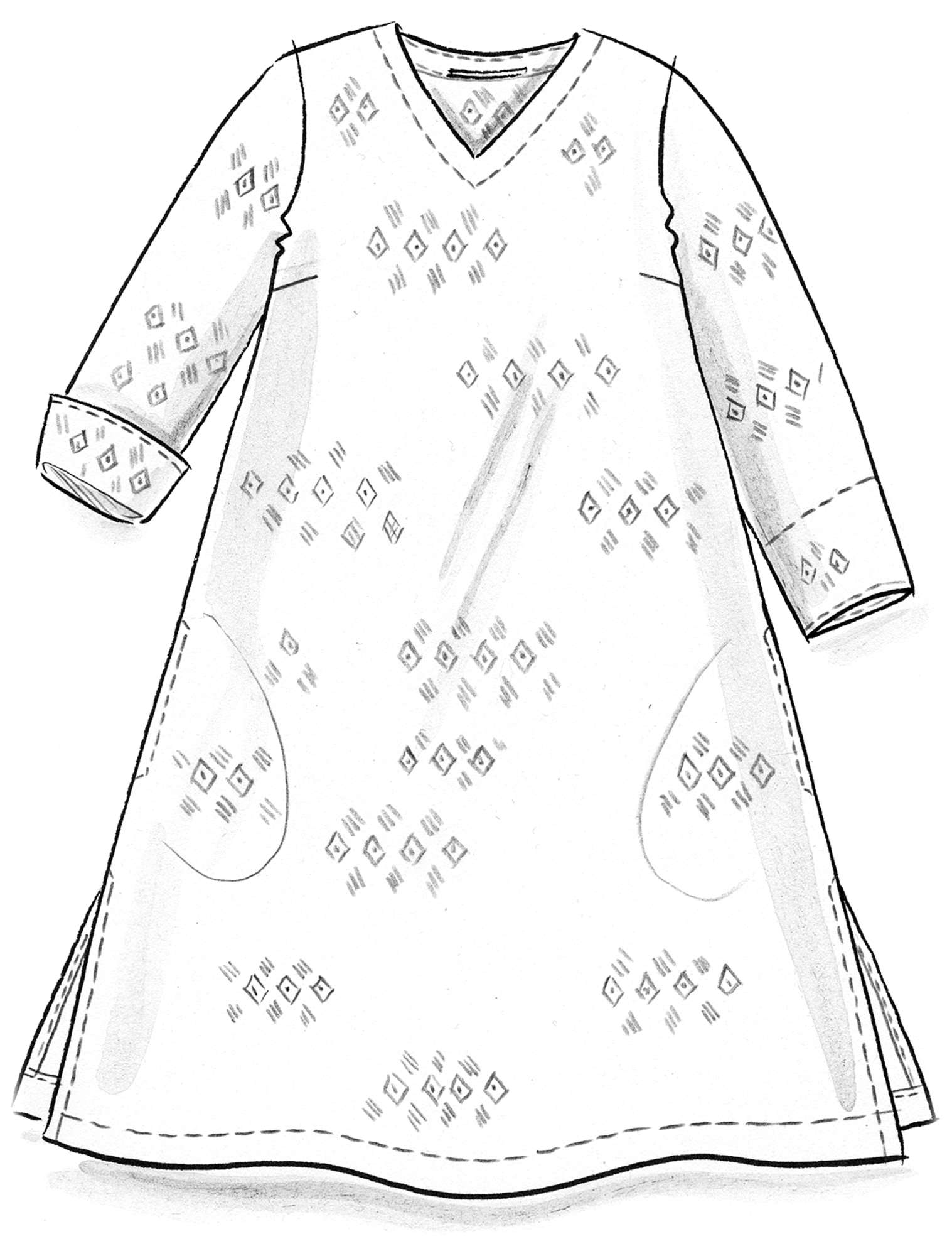 Dress made of cotton/viscose