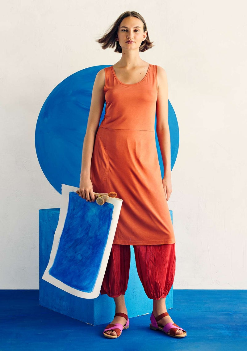 """Dripp"" modal jersey dress burnt orange"