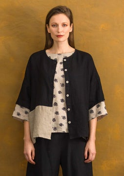 Linnen blouse black
