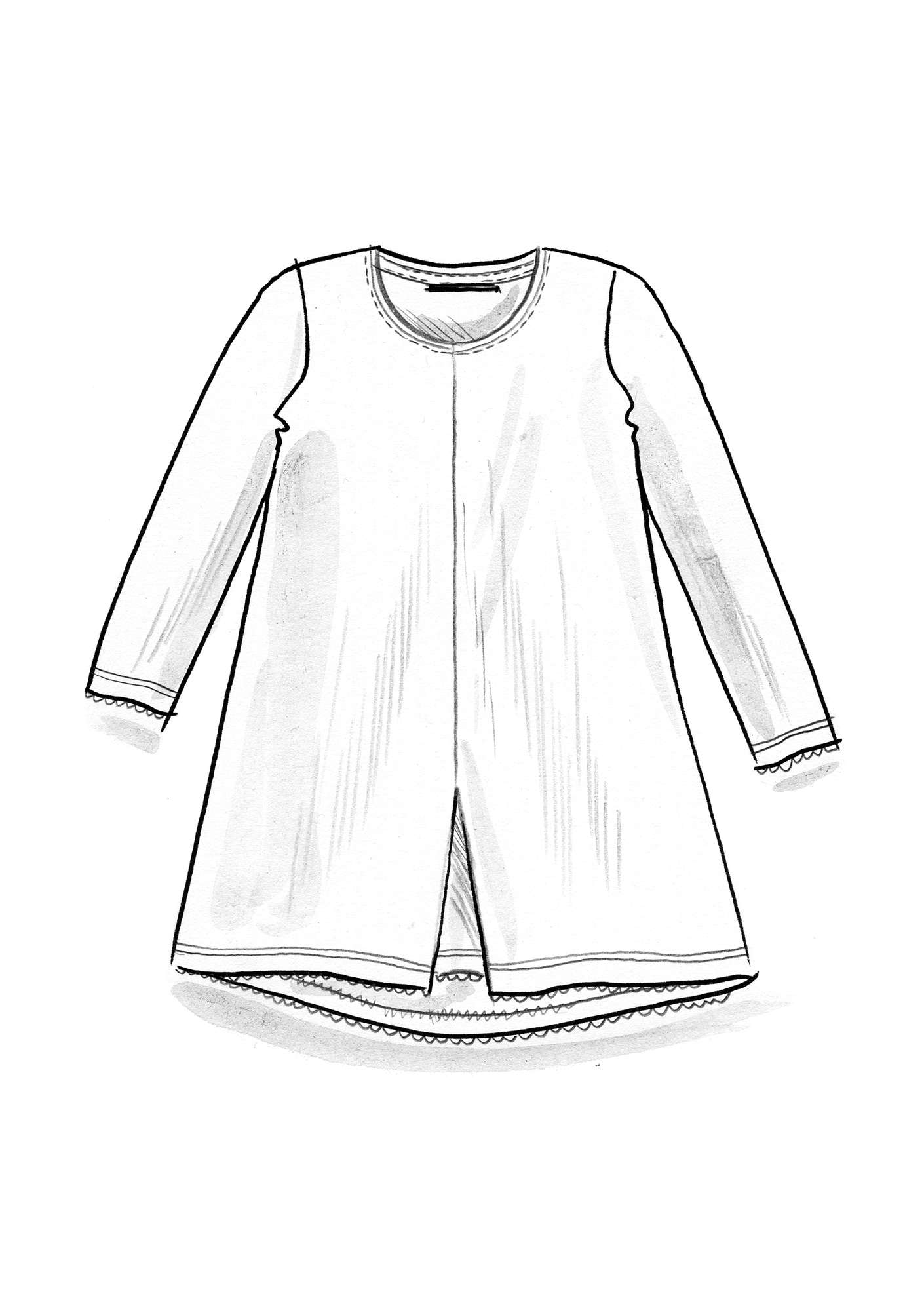 Linen tunic light ecru