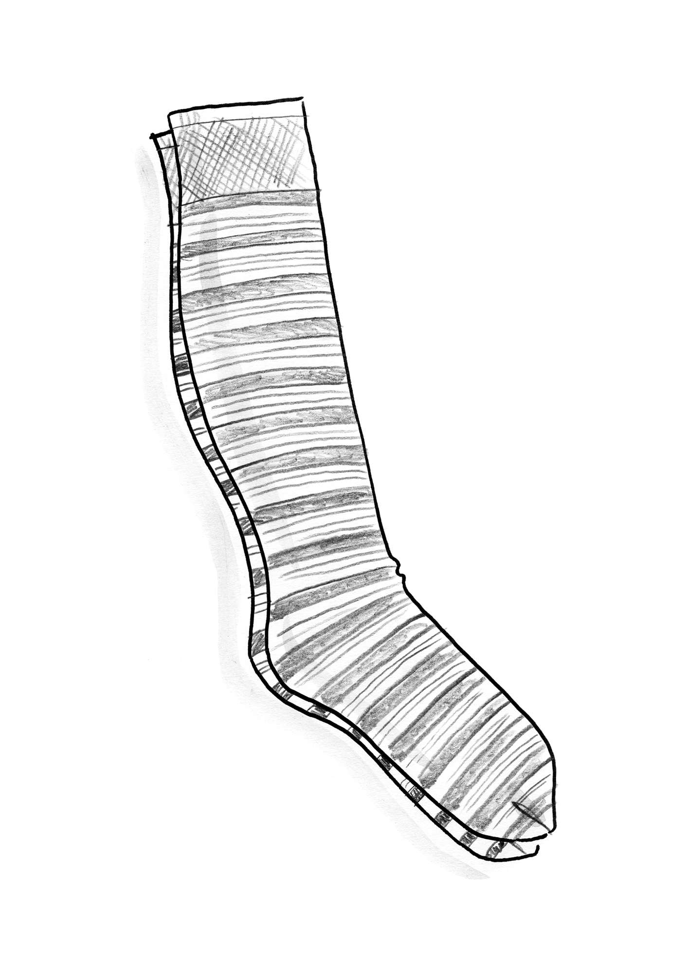 Striped knee-highs in recycled nylon black