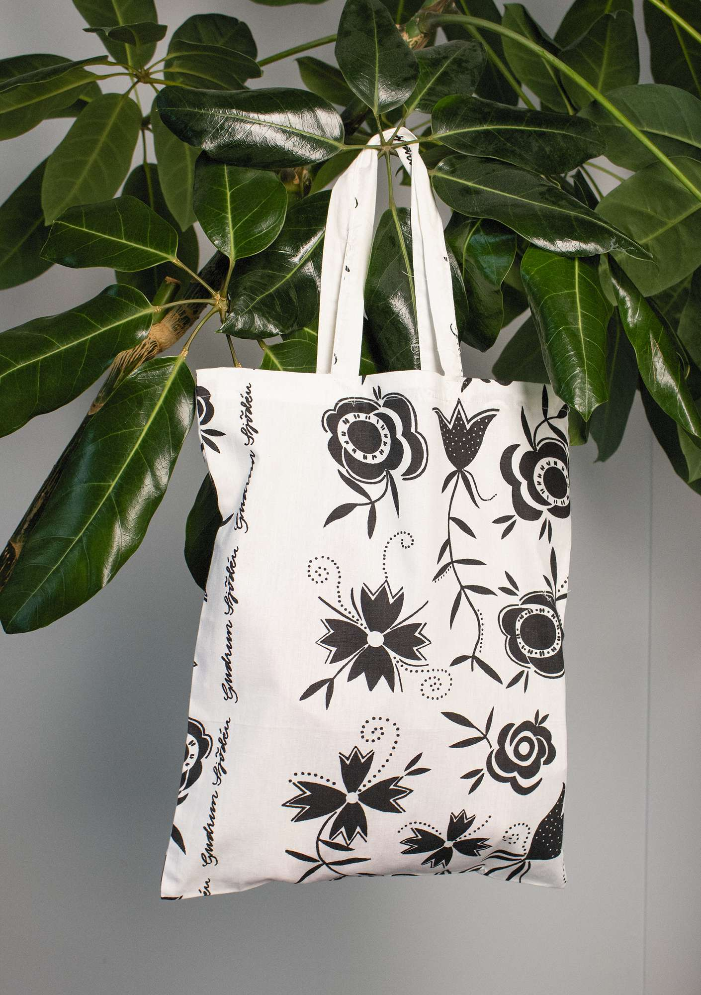 Organic cotton fabric tote bag M black