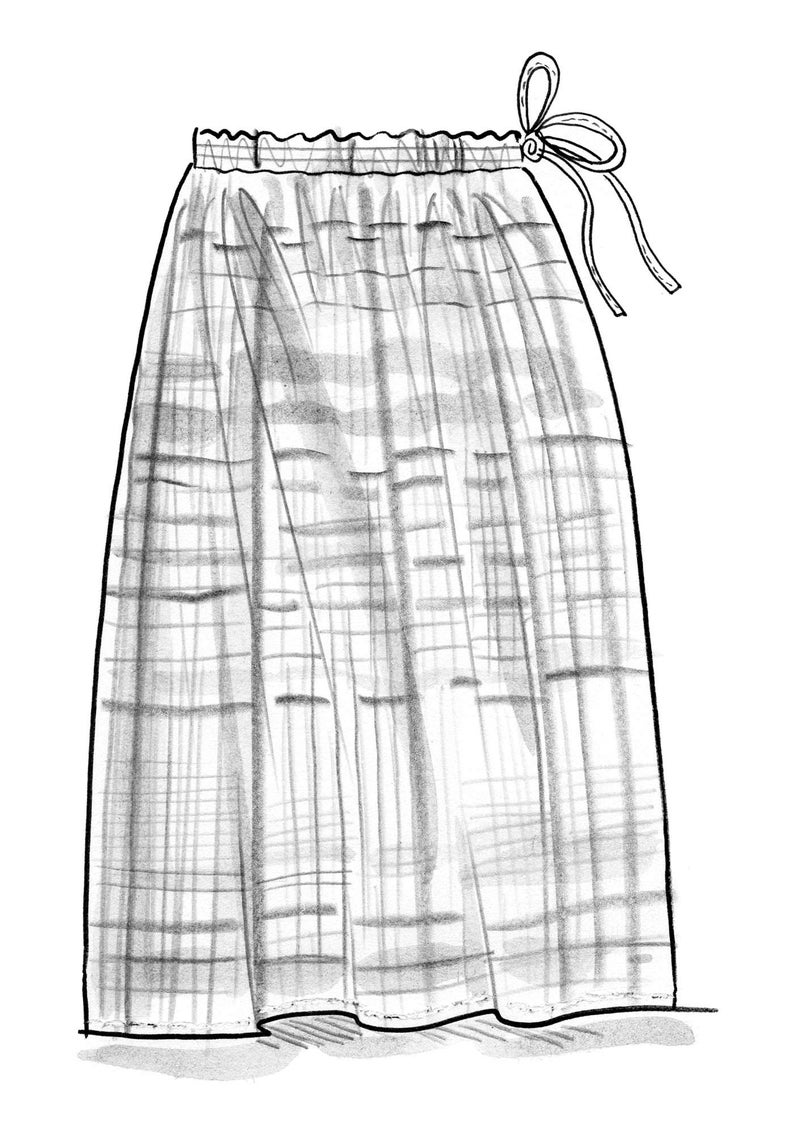 """Sahara"" organic cotton long skirt gneiss"