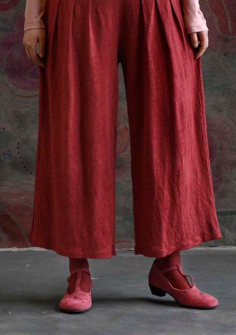 Linen trousers cranberry