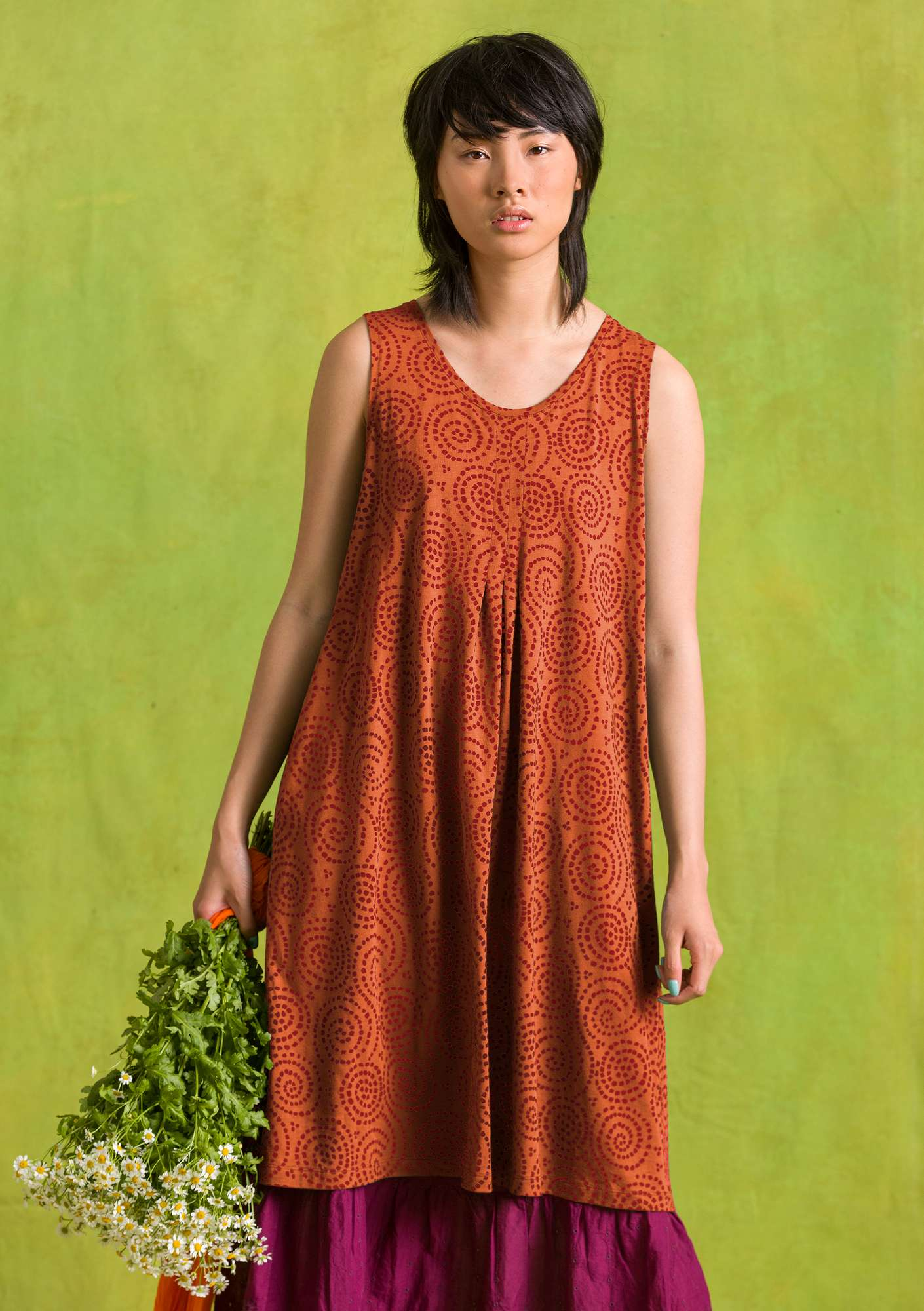 Vilse dress burnt orange
