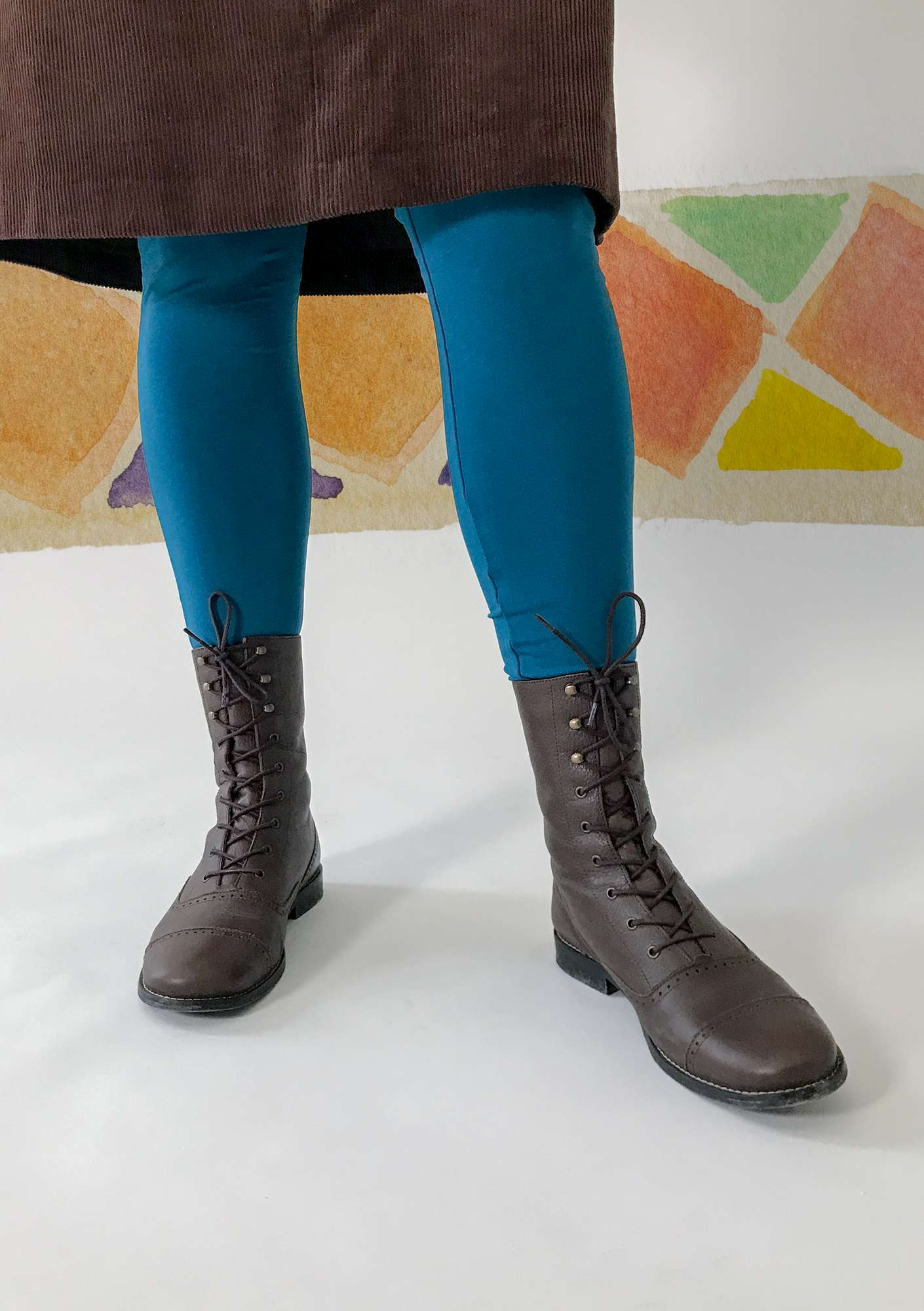 Leggings in lyocell/elastane petrol blue