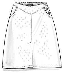 """Lindblom"" organic cotton/linen skirt"