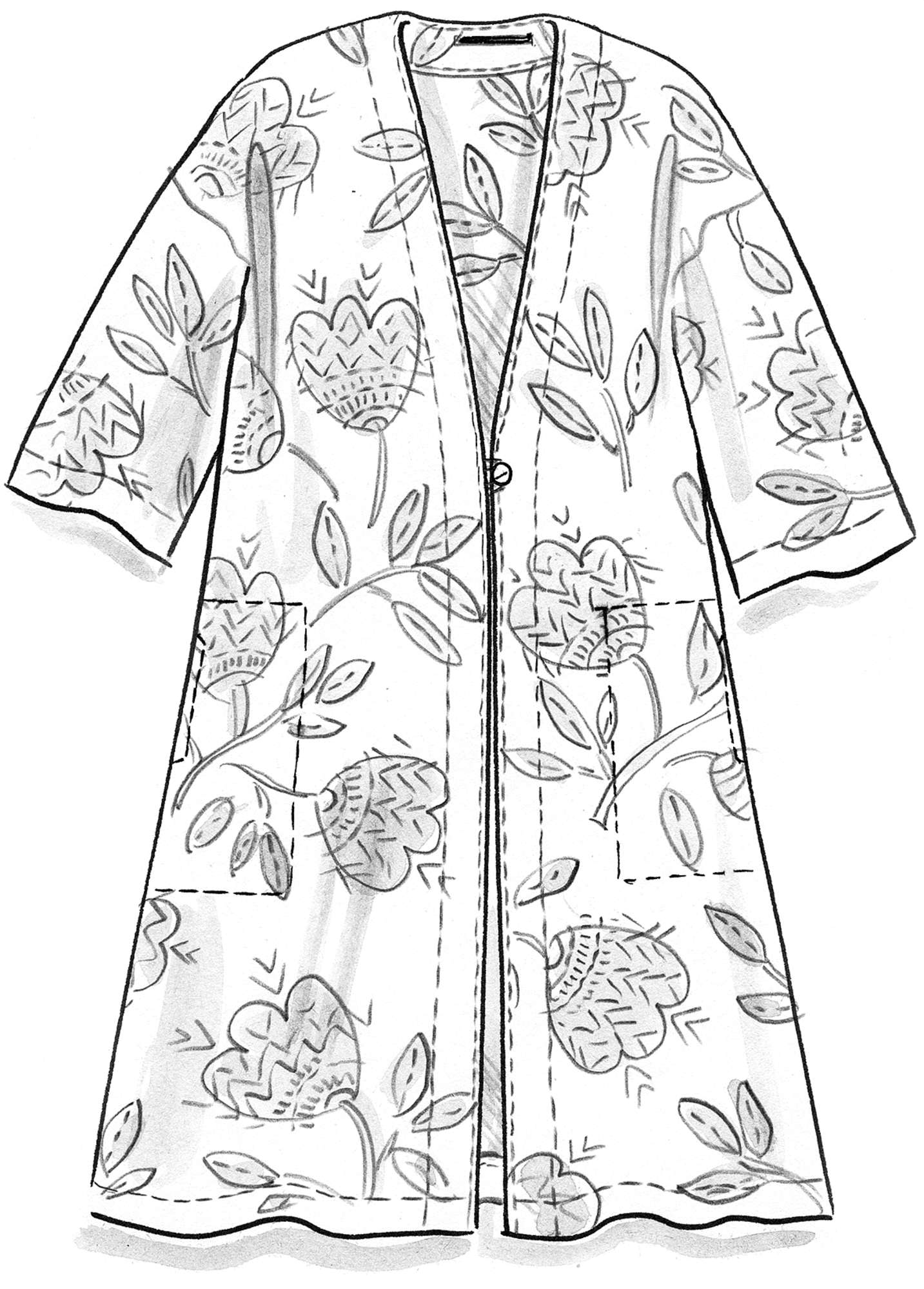 """Sirocco"" organic cotton robe"