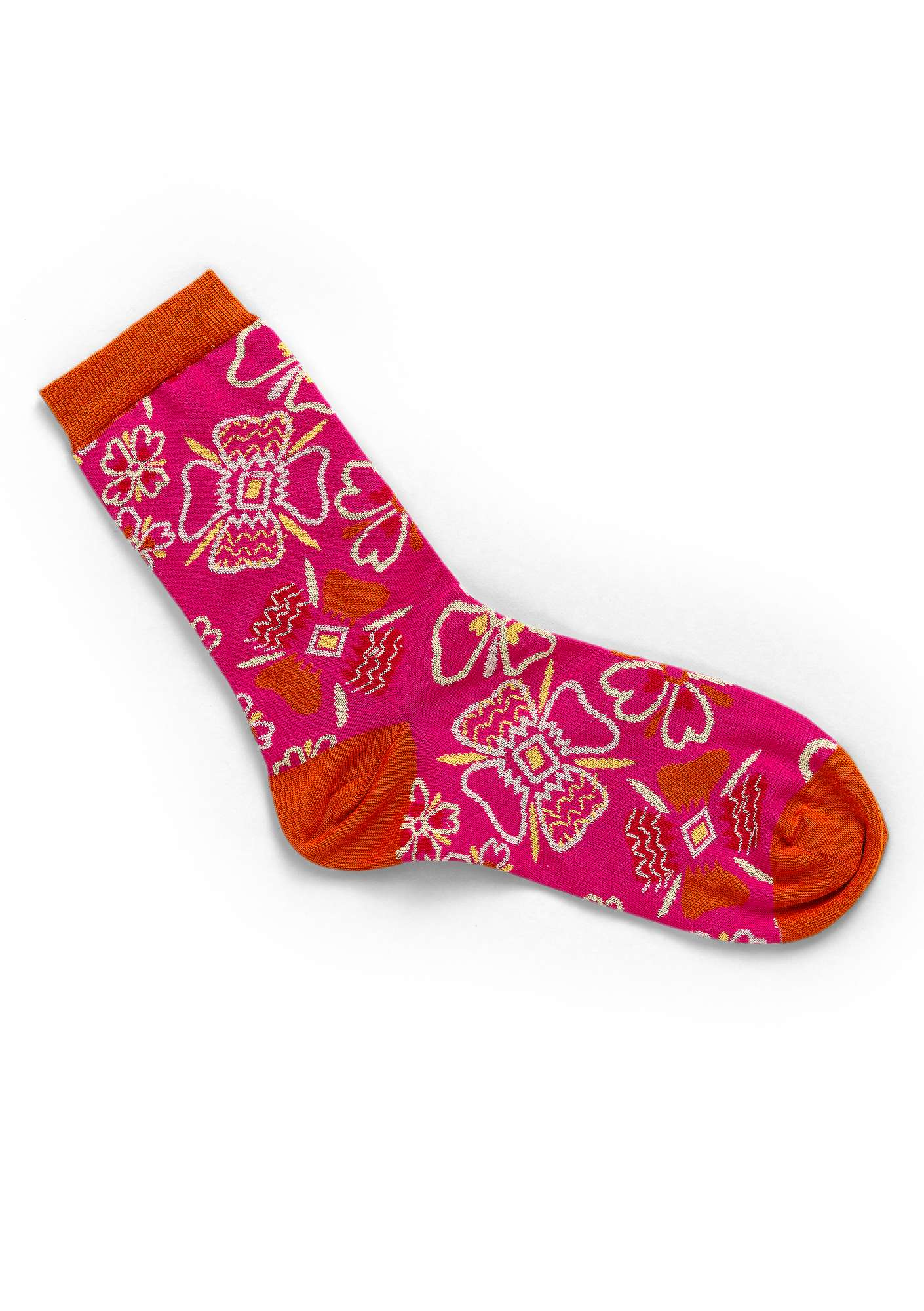 """Joni"" organic cotton socks hibiscus"