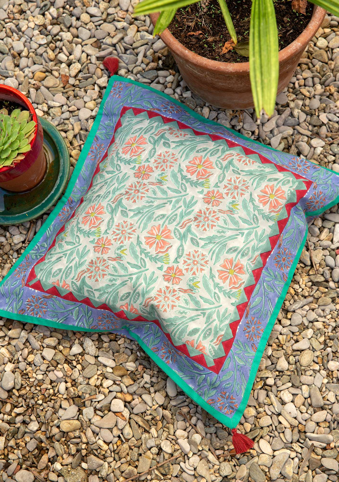 Hälsinge cushion cover lavender