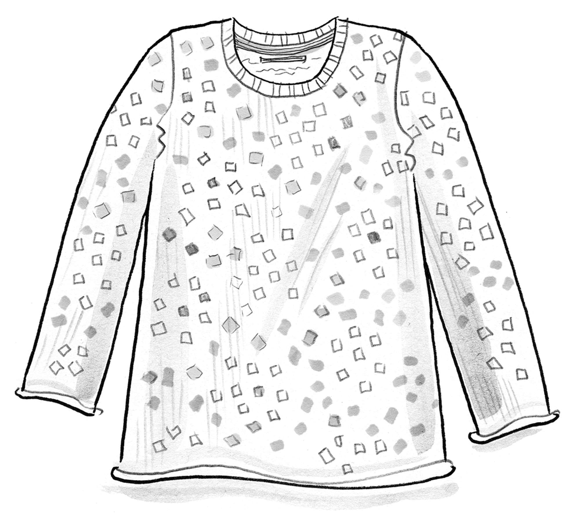 """Confetti"" BÄSTIS sweater in recycled cotton"