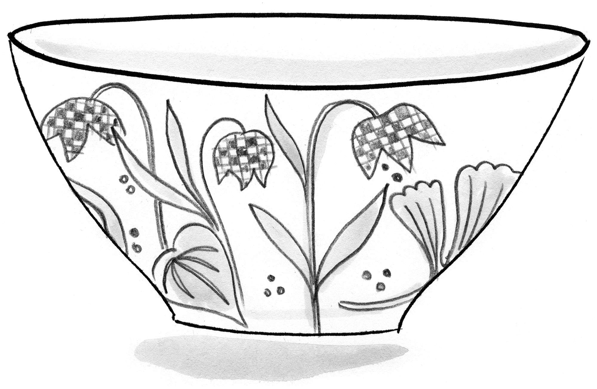 """Ängslilja"" ceramic bowl"