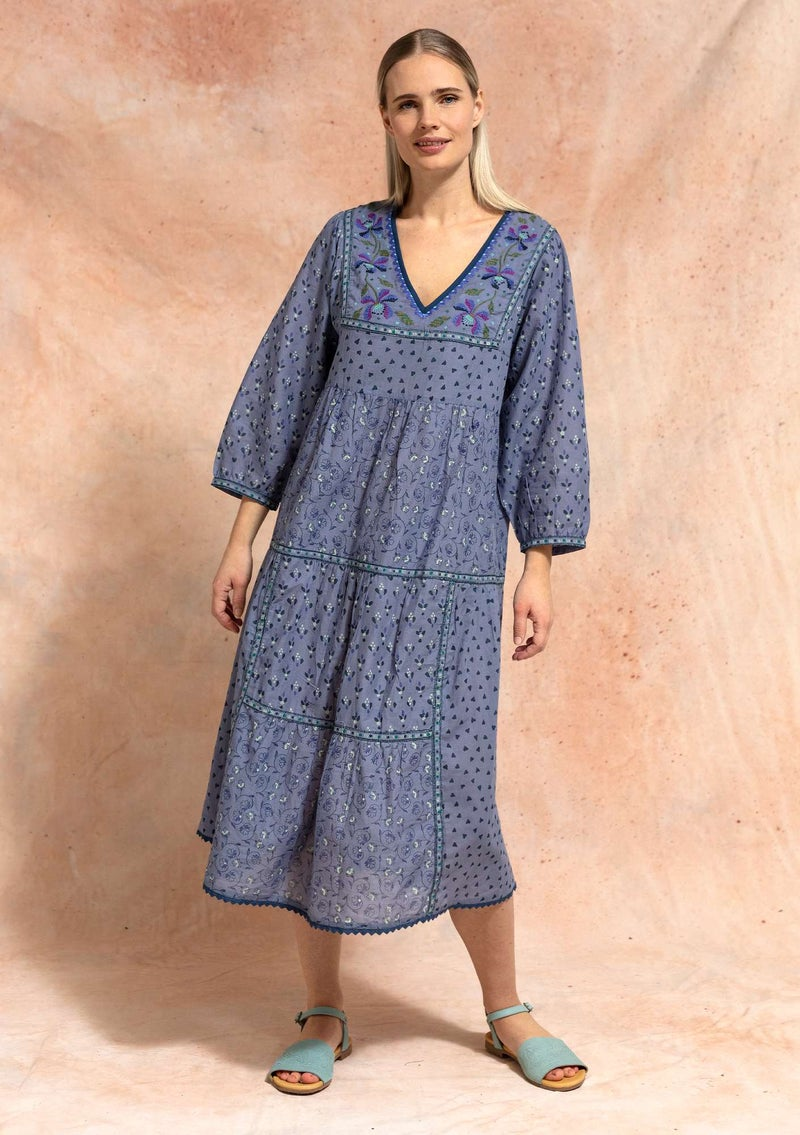"""Melodie"" organic cotton dress light indigo"