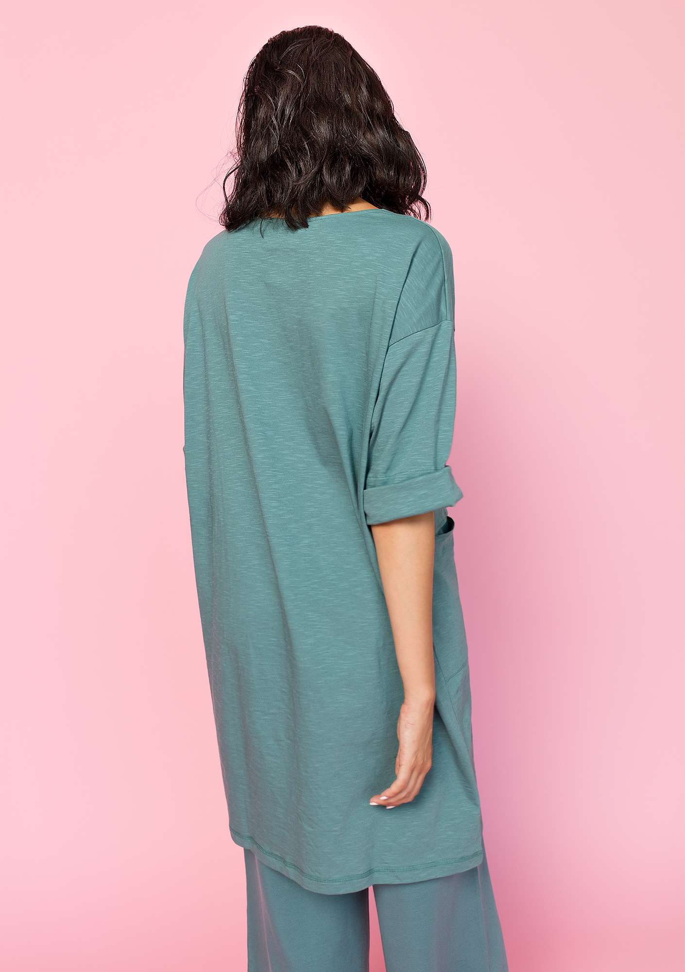 Dress in organic cotton tea tree