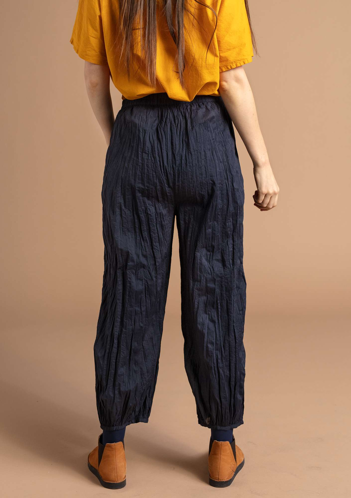 Organic cotton trousers ink blue
