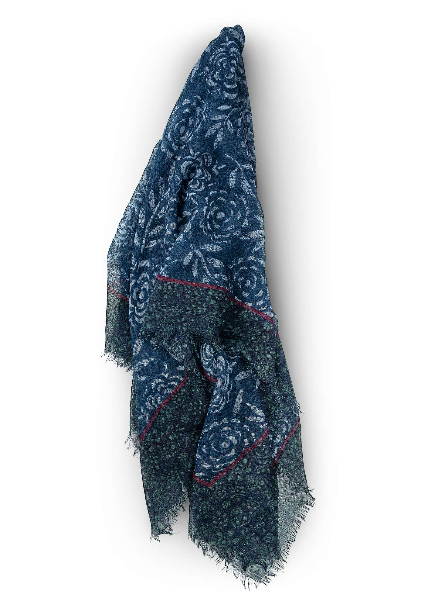 """Ulrika"" wool shawl indigo blue"