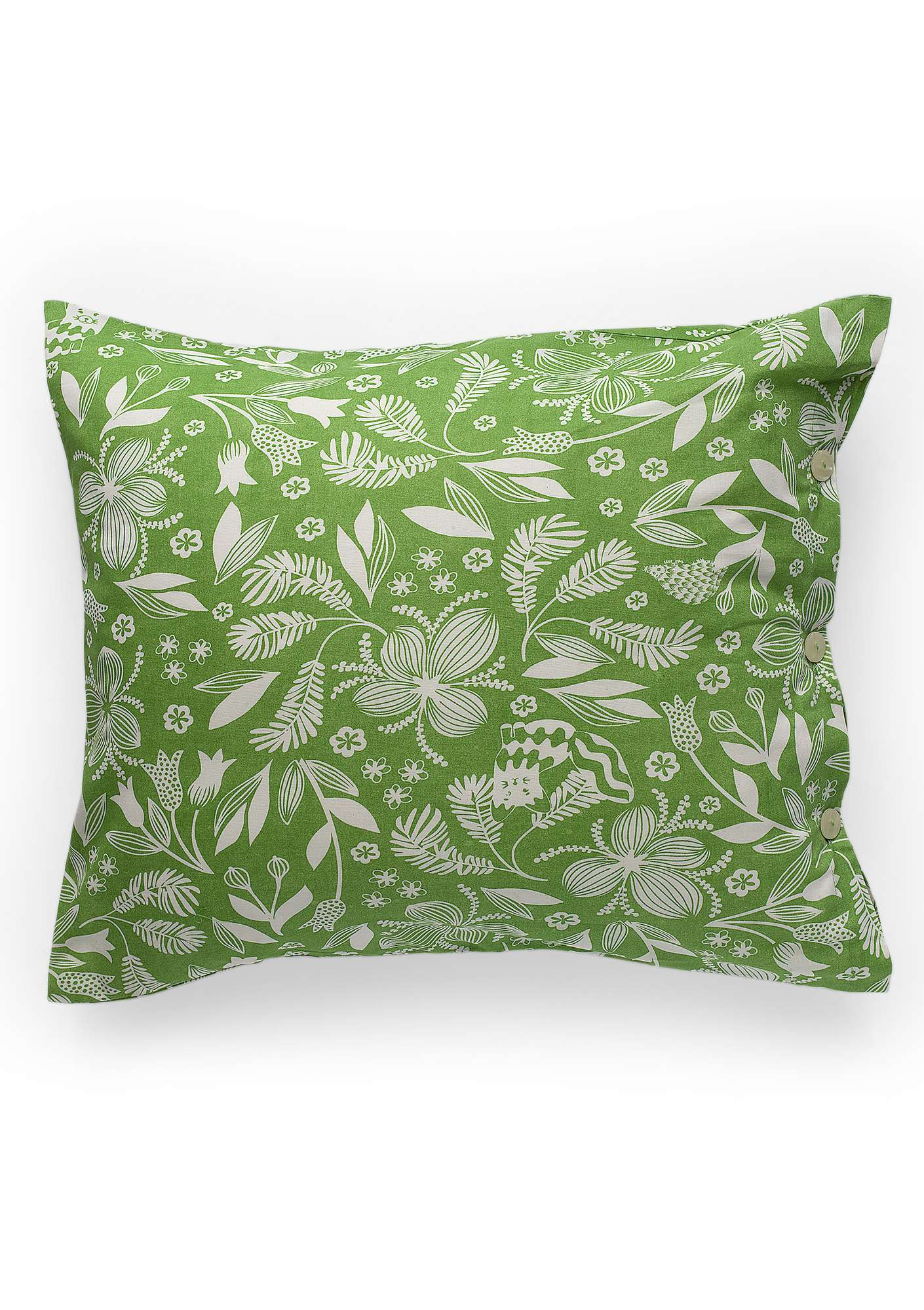 """Sara"" organic cotton pillowcase cicada"