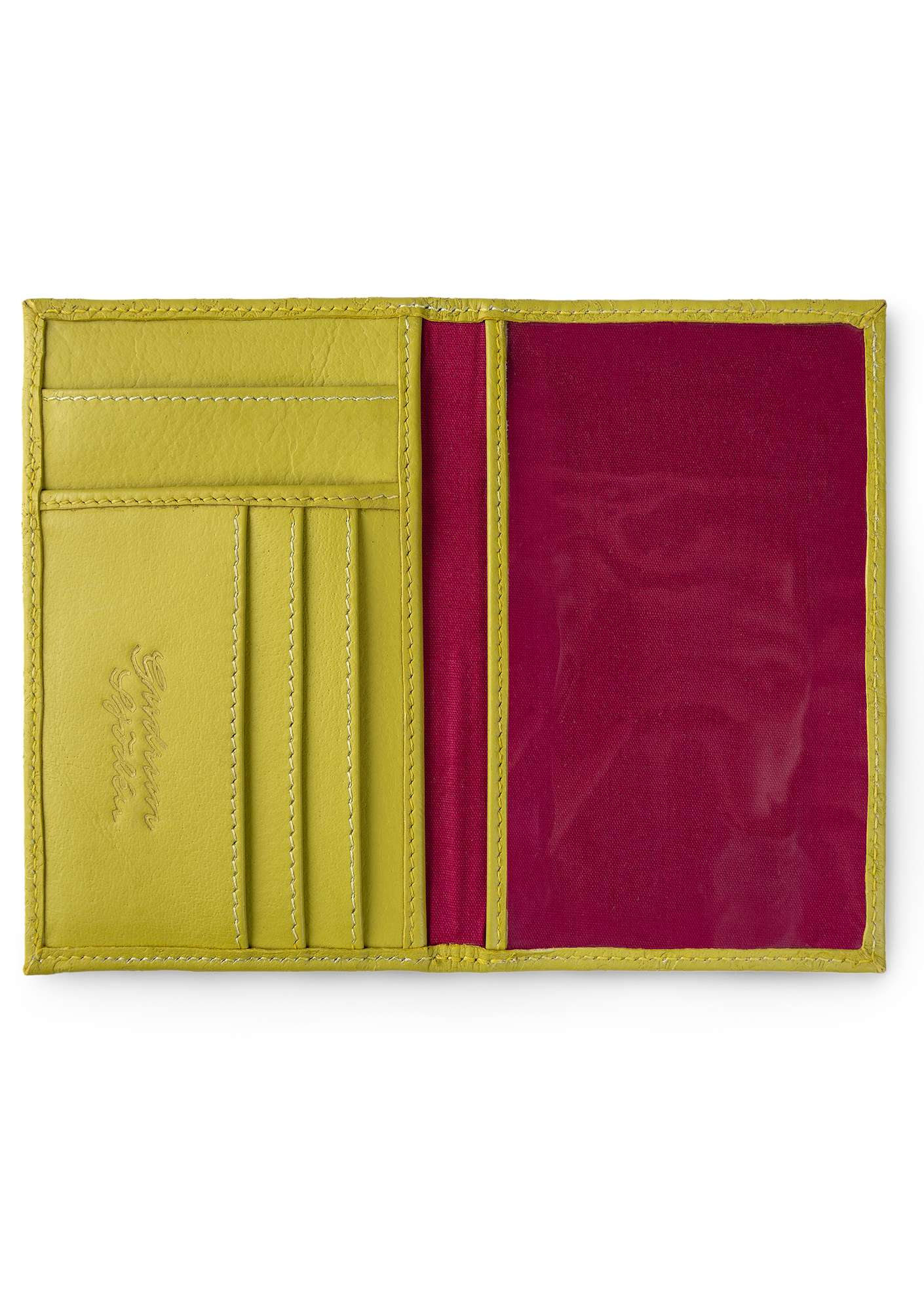Passport cover leaf green