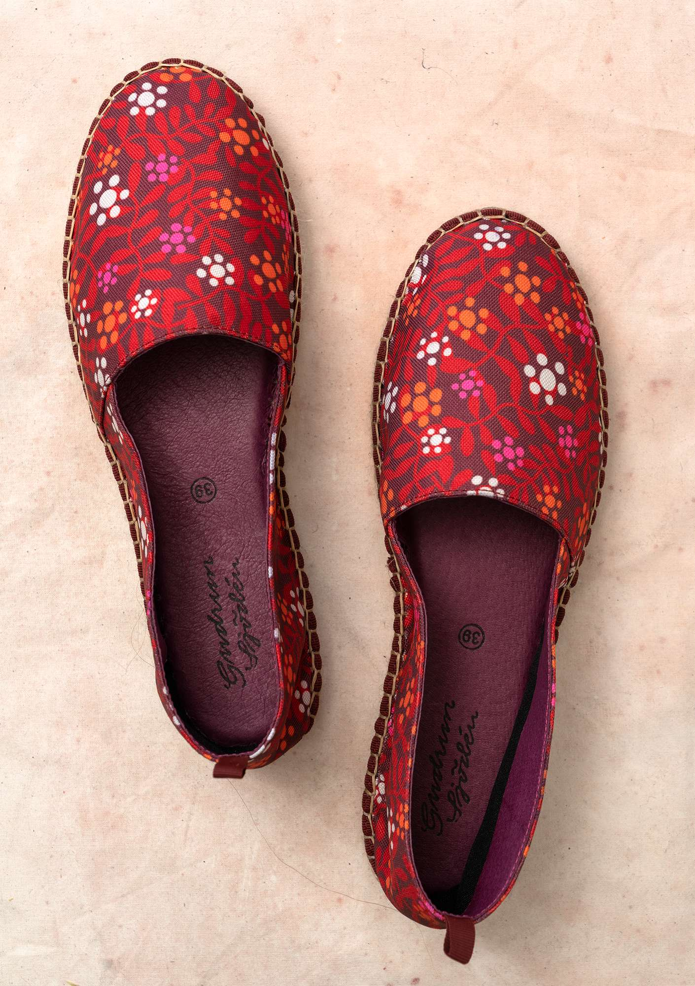 """Hake"" cotton espadrilles burgundy"