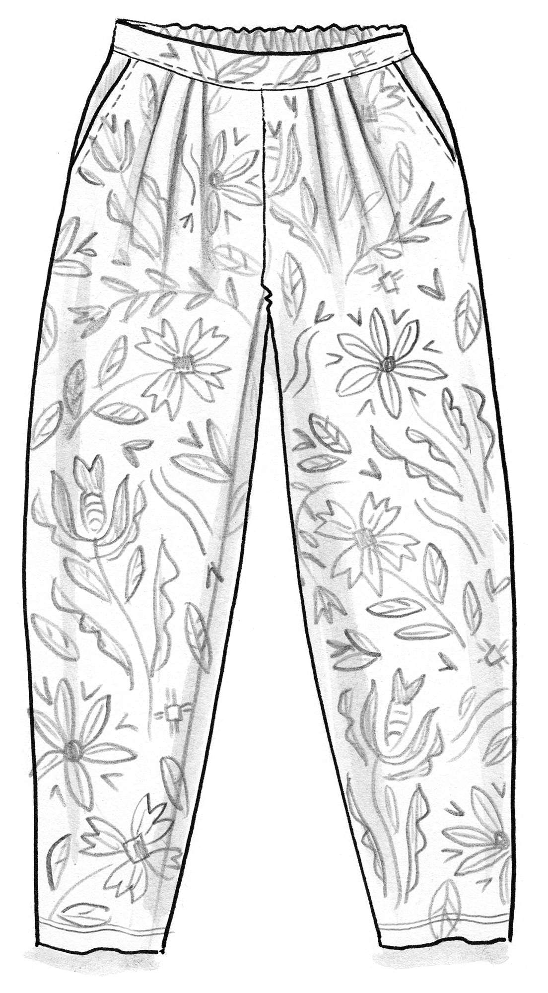 """Amber"" pants in organic cotton"