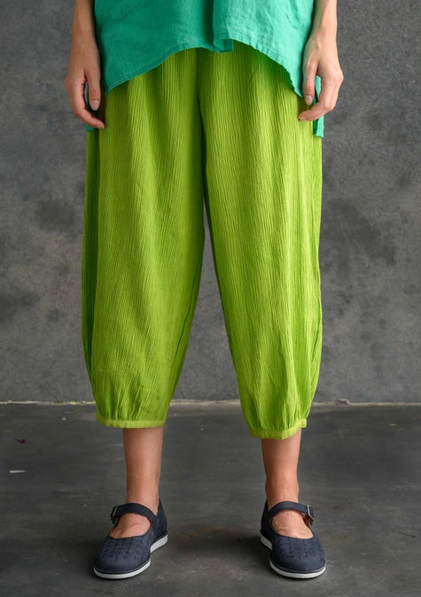 Solid-colour trousers tropical green