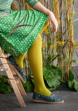 Solid-colour tights asparagus