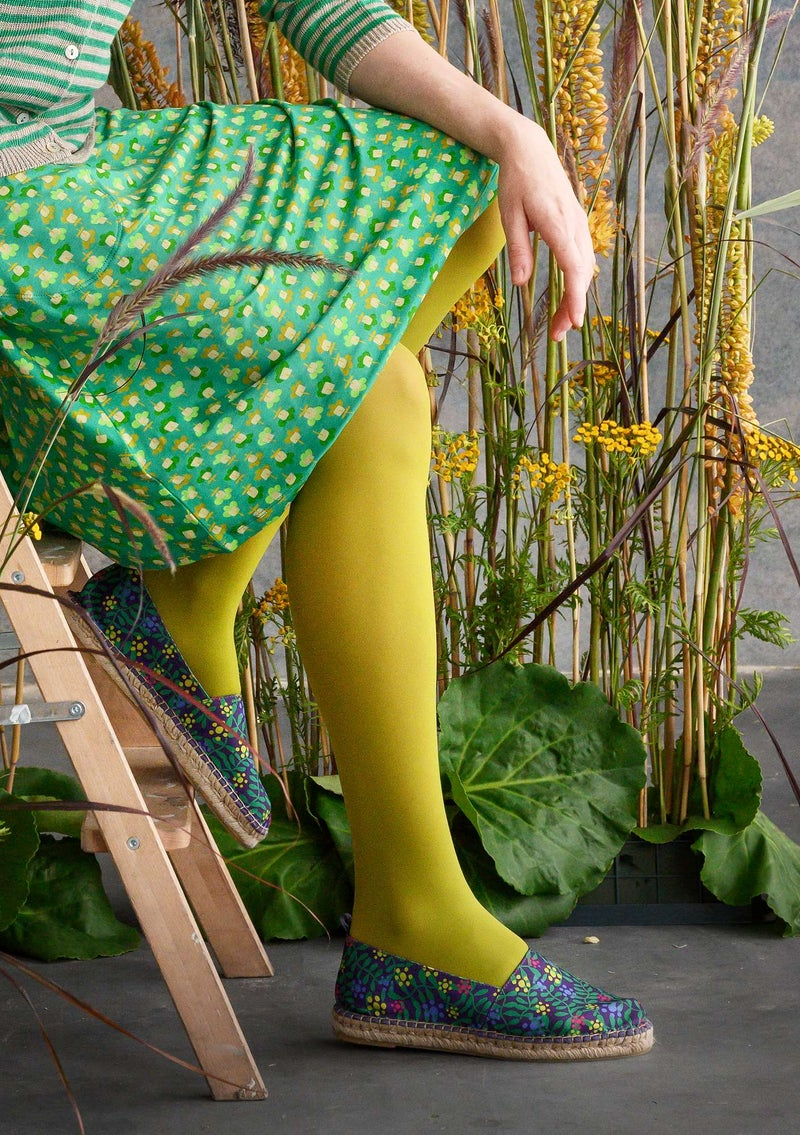 Tights in recycled nylon asparagus