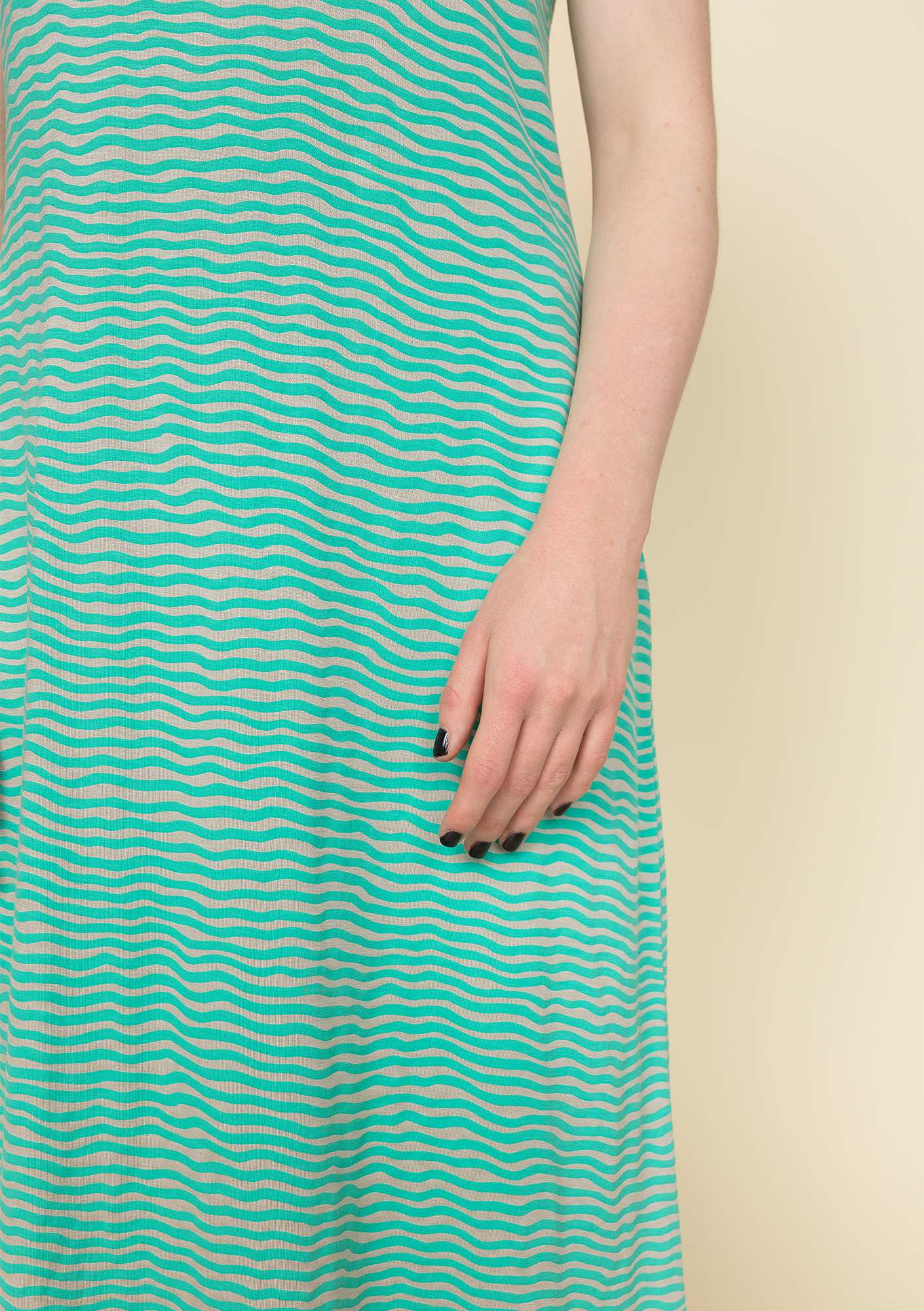 """Krusa"" dress in lyocell/spandex pale orient green/patterned"
