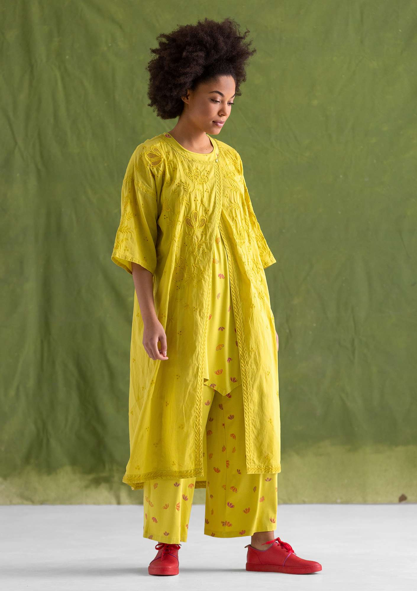 """Little Italy"" eco-cotton dress dijon"