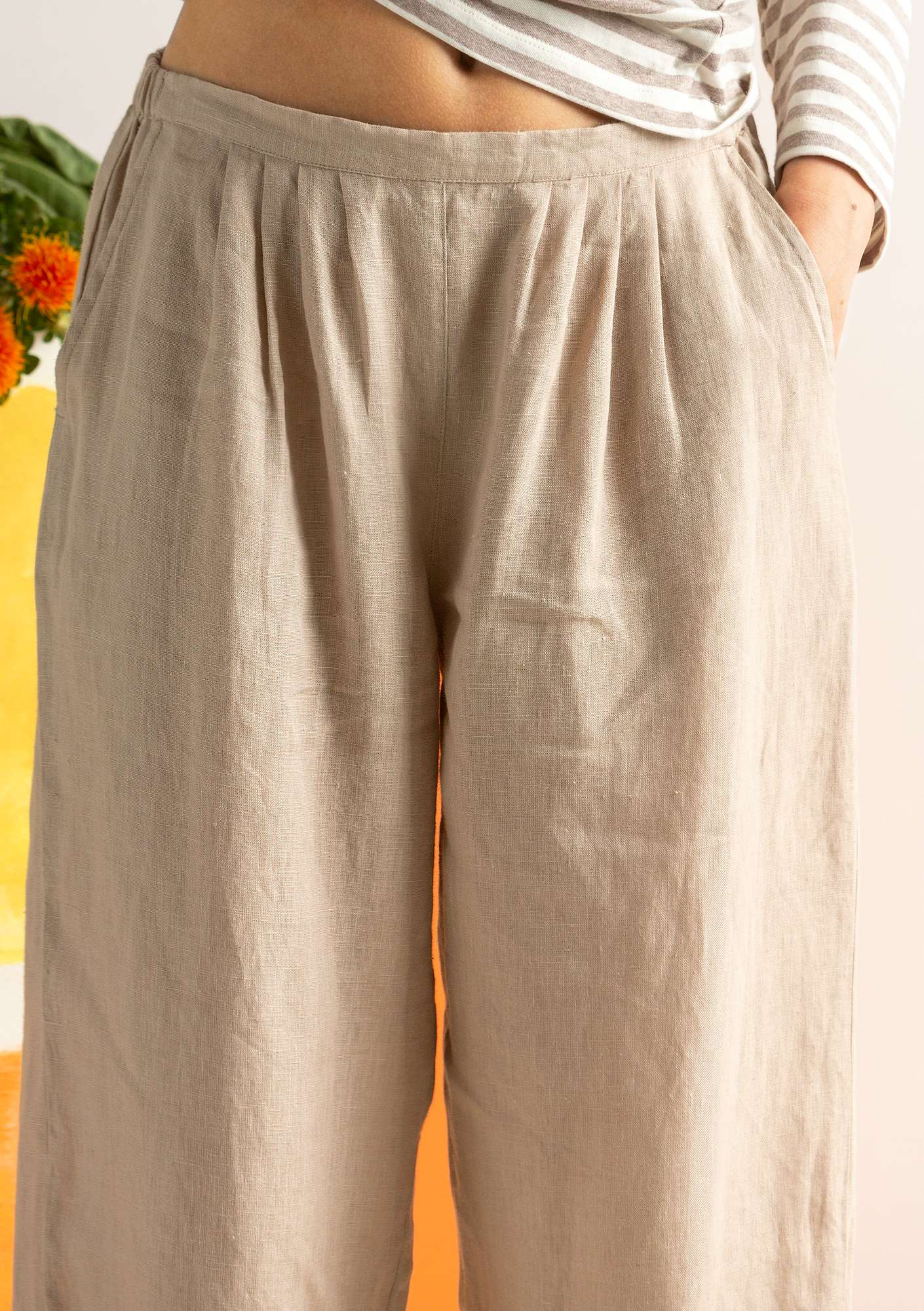 Linen trousers natural
