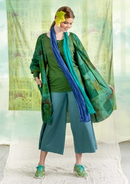 Turmeric robe sea green