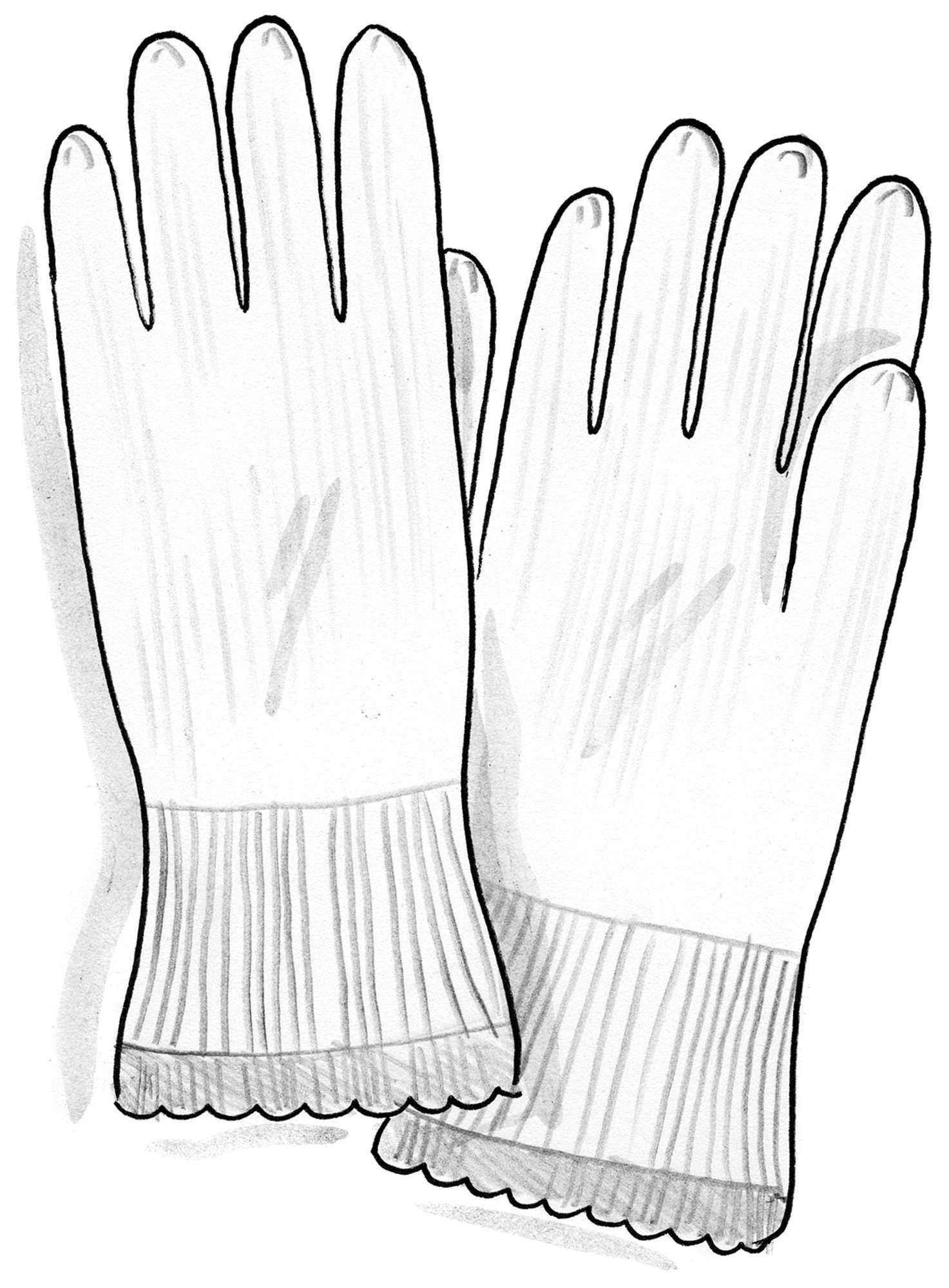 Alpaca blend gloves with touchscreen function