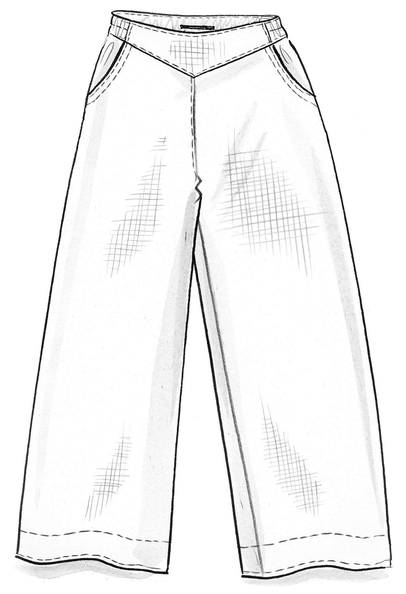 Pants in linen/cotton