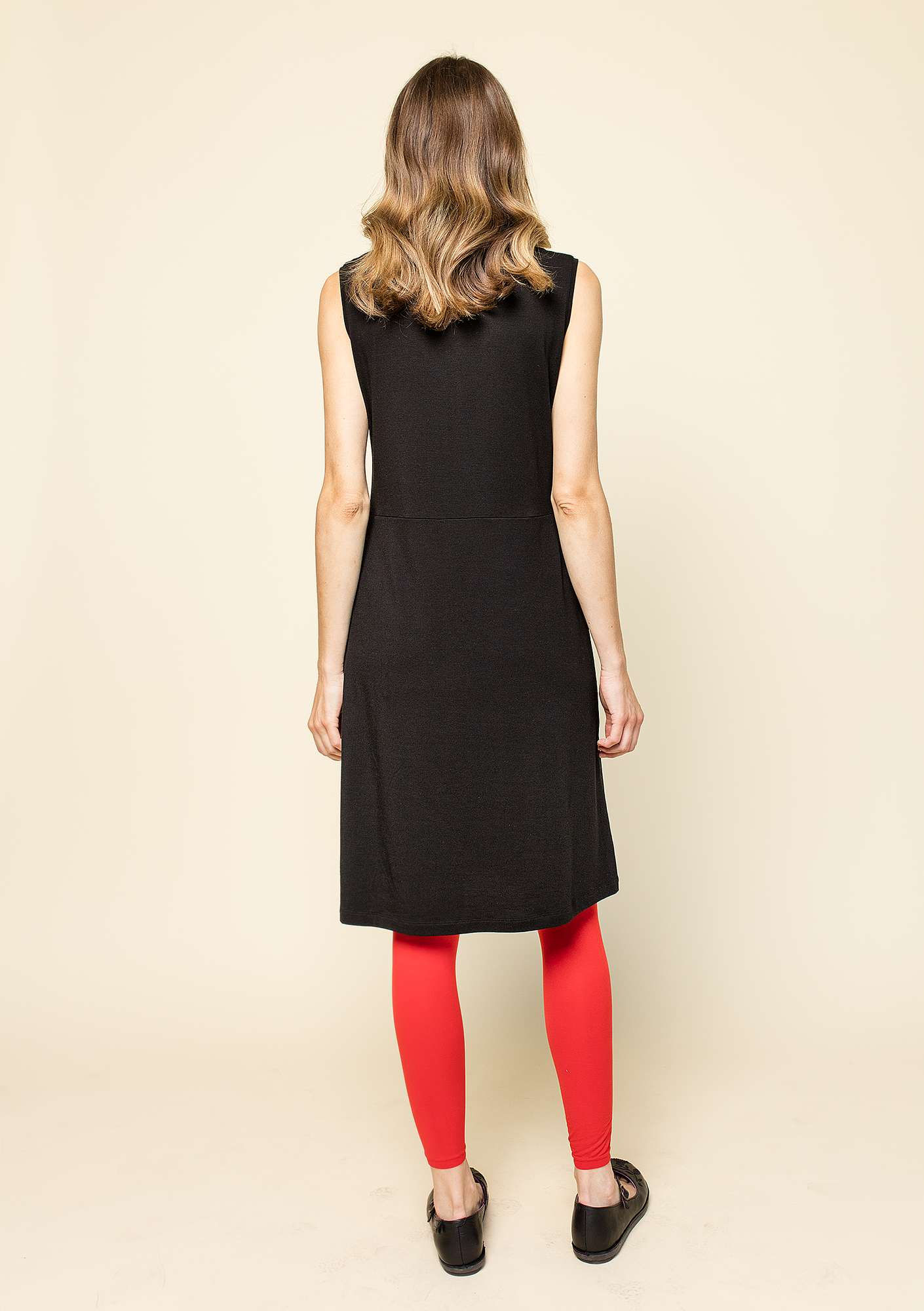 """Krusa"" dress in lyocell/spandex black"