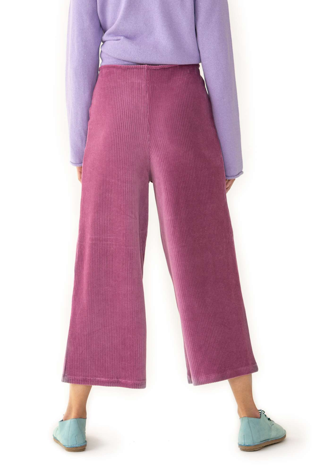 Ribbed velour trousers heather