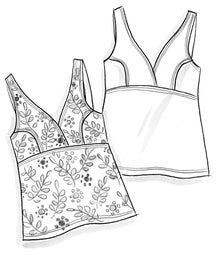 """Waterlily"" tankini in polyamide/elastane"
