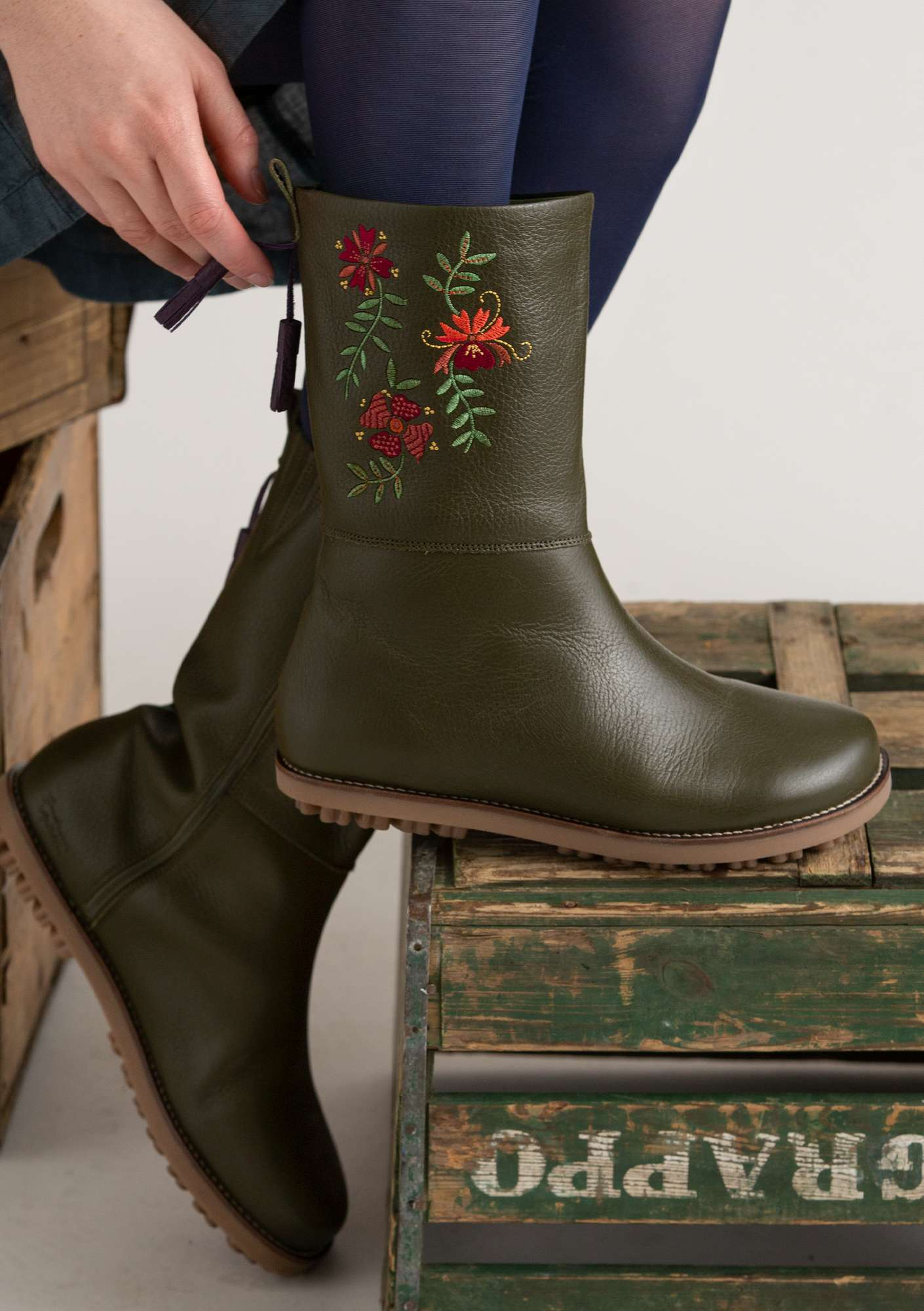 Stiefel Artistic forest green