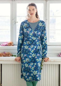 Magnolia dress flax blue
