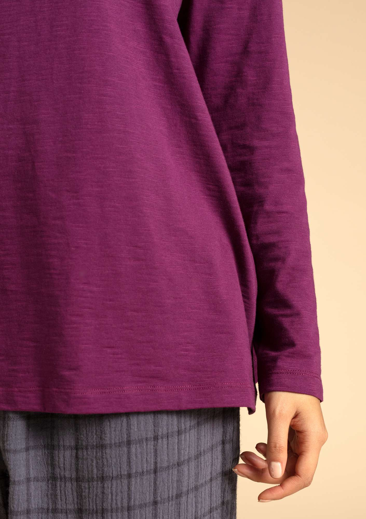"""Livia"" organic cotton top grape"