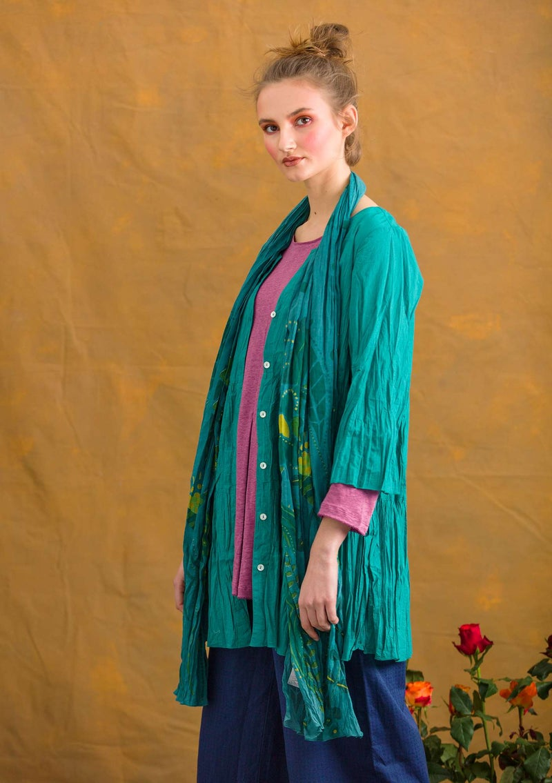 """Pimpinella"" organic cotton blouse aqua green"